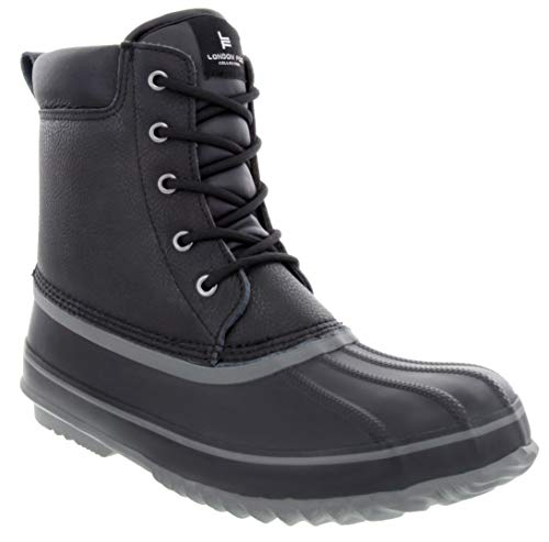 LONDON FOG Mens Ashford Waterproof and Insulated Duck Boot Black
