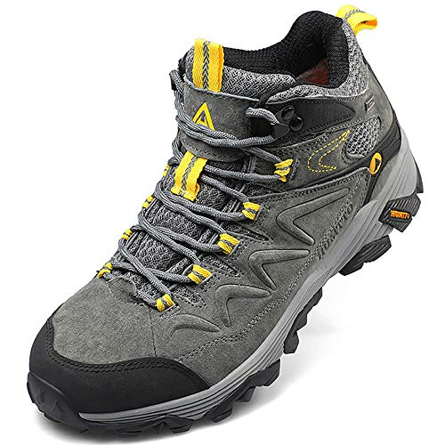 Hiking Boots for Men Breathable Climbing Trekking Shoes Outdoor Sports Hiking Boots for Men Breathable Climbing Trekking Shoes Outdoor Sports High-Top Traveling Sneakers (3520 Grey,13).