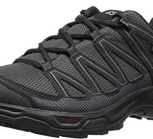 Salomon Men's Pathfinder Mid ClimaSheild Waterproof Hiking Shoes, Phantom/Black/Magnet, 12 M US