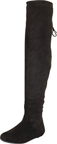 Cambridge Select Women's Round Toe Flat Over The Knee Riding Boot