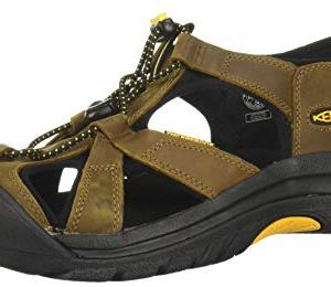 KEEN mens Venice Closed Toe Leather Sport Sandal