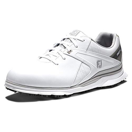 FootJoy Men's Pro/SL Golf Shoes, White/Grey