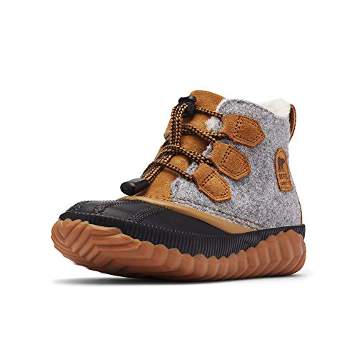 Sorel Out N About Plus Boot - Girls' Quarry/Camel Brown