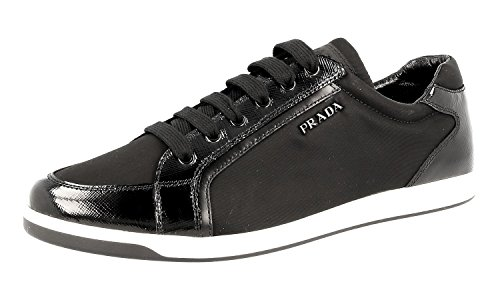 Prada Women's Black Saffiano Leather Sneaker