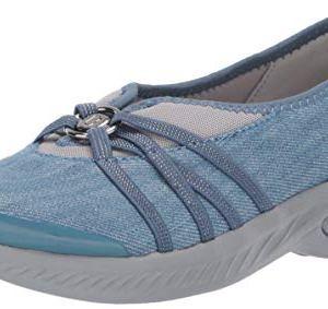 BZees womens Niche Sneaker, Washed Denim Fabric