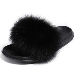 Valpeak Fur Slippers Slides for Women