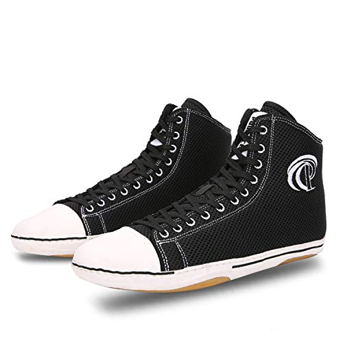 Funamee Men's Wrestling Shoes, Low Top Breathable