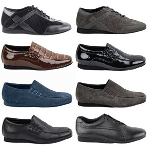 50 Shades Mens Flat Dance Shoes Black Perforated Leather