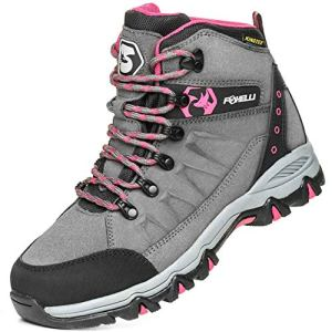 Foxelli Women's Hiking Boots – Waterproof Suede Leather