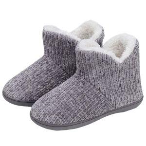 TUOBUQU Women Warm Bootie Slippers Fluffy Plush