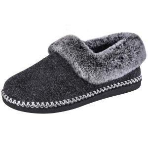 EverFoams Women's Luxury Wool Memory Foam Slippers