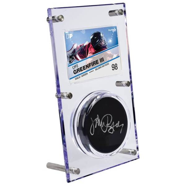 Ultra Pro 35pt Clear Puck and Card Flip Display Case