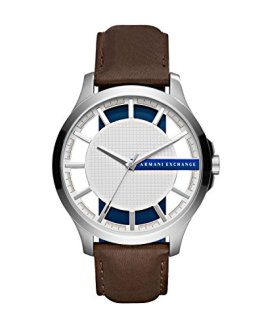 Armani Exchange Men's AX2187 Brown Leather Quartz Watch