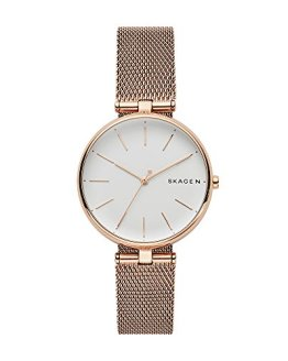 Skagen Women's Analog Display Analog Quartz Rose Gold Watch