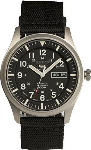 SEIKO 5 SPORTS Automatic made in Japan Black Dial Nylon Strap Watch