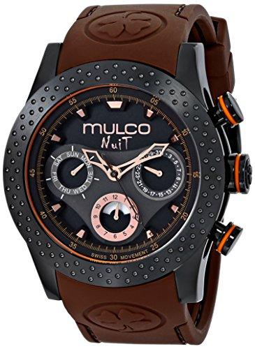 MULCO Unisex Analog Display Swiss Quartz Brown Watch
