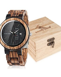 BOBO BIRD Mens Wooden Watch Analog Quartz