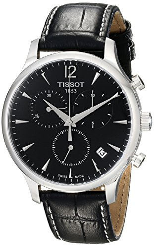 Tissot Men's Black Dial Tradition Watch