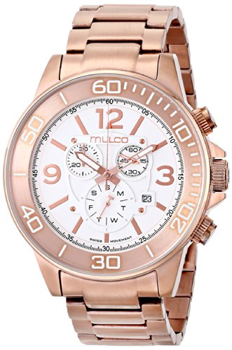 MULCO Unisex Analog Display Swiss Quartz Rose Gold Watch