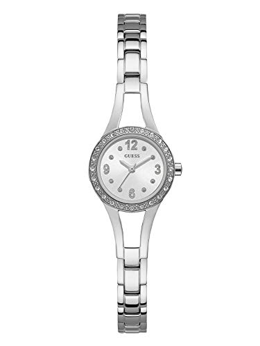 GUESS Women's Stainless Steel Petite Crystal Watch