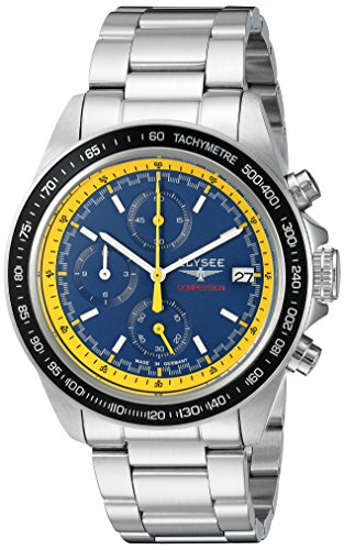 ELYSEE Men's 'Competition' Quartz Stainless Steel Casual Watch
