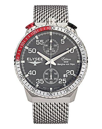 ELYSEE Men's Analog Display Quartz Black Watch
