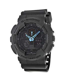 Casio Men's G-Shock Analog-Digital Watch Grey/Neon Blue