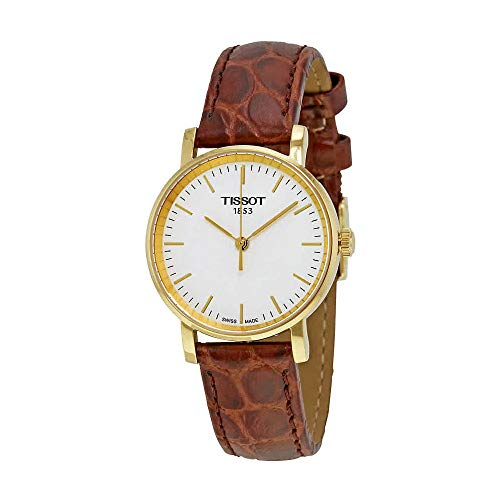 Tissot Ladies White Dial Leather Strap Watch