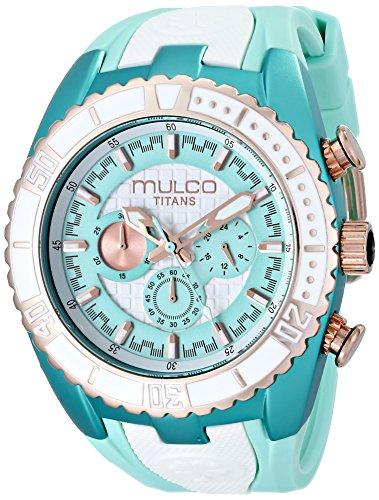 MULCO Unisex Titan Wave Analog Display Japanese Quartz Blue Watch