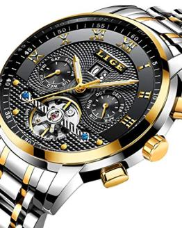 Mens Watches Top Luxury Brand LIGE Fashion