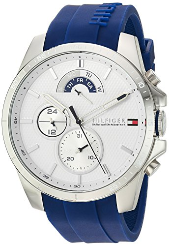 Tommy Hilfiger Men's Cool Sport Stainless Steel Quartz Watch with Silicone Strap