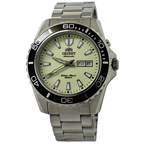Orient Men's Automatic Stainless Steel Diving Watch, Color:Silver-Toned