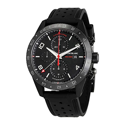 Montblanc TimeWalker Black Dial Mens Chronograph Leather Watch 116101