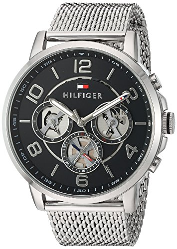 Tommy Hilfiger Men's Quartz Stainless Steel Watch, Color:Silver-Toned