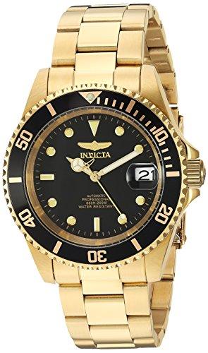 Invicta Men's Analog Display Japanese Automatic Gold/Black Watch