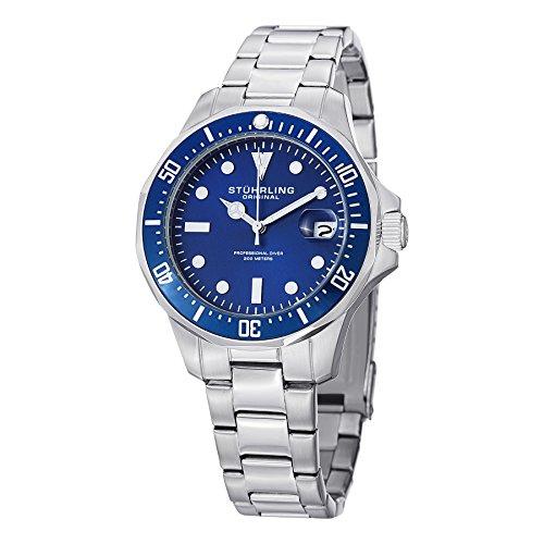 Stuhrling Original Aquadiver Mens Dive Watch