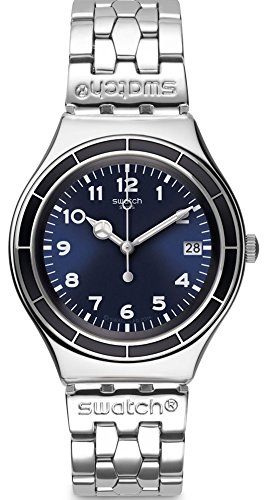 Swatch Blue Dial Stainless Steel Unisex Watch