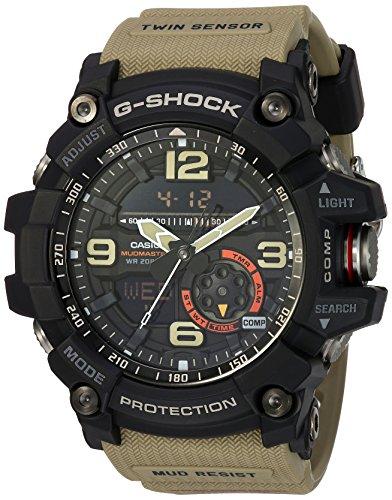 Casio Men's 'G Shock' Quartz Resin Casual Watch, Color:Beige