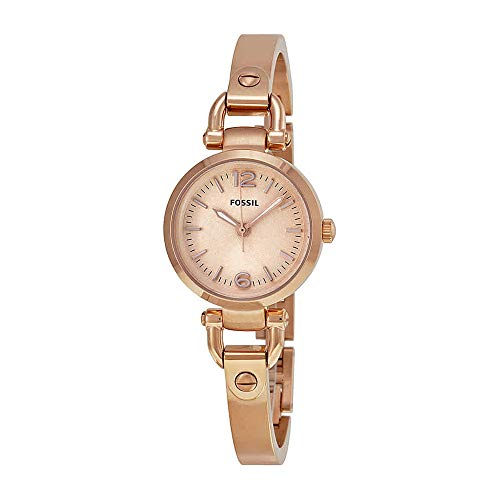 Fossil Women's Mini Georgia, Rose Gold-Tone Stainless Steel Watch