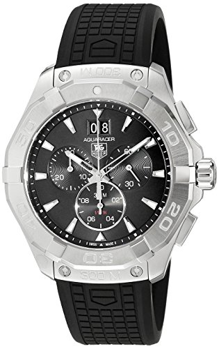 TAG Heuer Men's Swiss Quartz Stainless Steel and Rubber Casual Watch