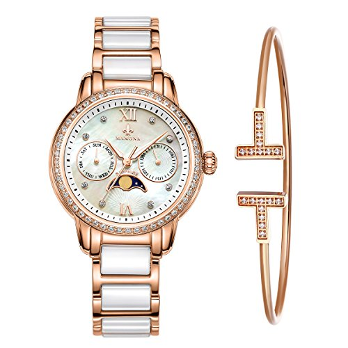 MAMONA Women's Rose Gold Chronograph Watch