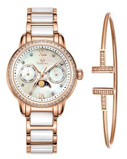 MAMONA Women's Rose Gold Chronograph Watch