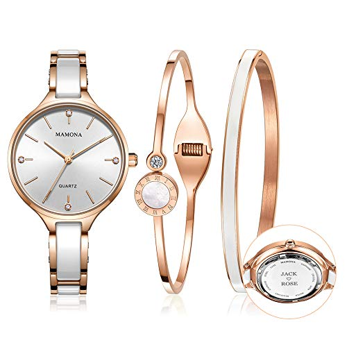 MAMONA Custom Engraved Watch Set for Women Personalized Gift
