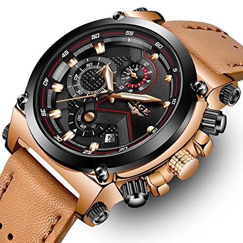 LIGE Men's Fashion Sport Quartz Watch