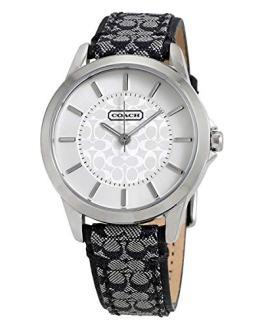 COACH Women's Classic Signature Strap Watch Silver/Black One Size