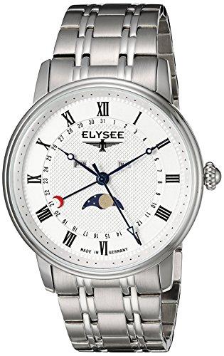 Elysee Men's Classic-Edition Analog Display Quartz Silver Watch