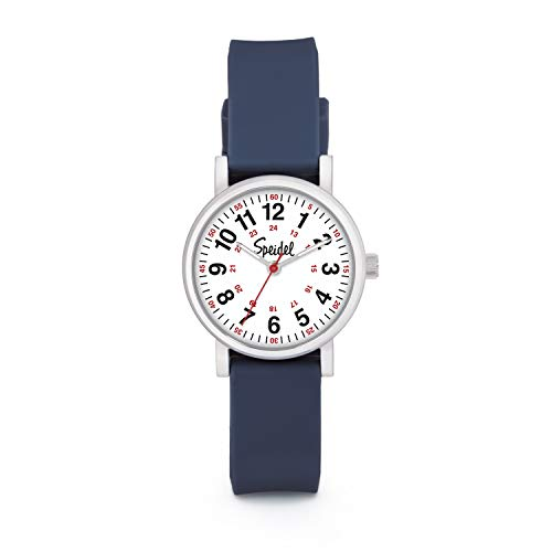 Speidel Women's Navy Blue Scrub Petite Watch for Medical Professionals