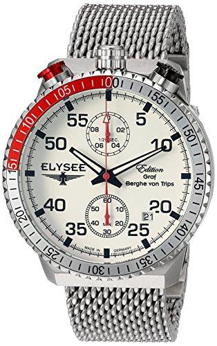 Elysee Men's Analog Display Quartz Silver Watch