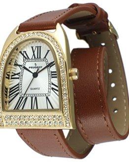 Peugeot Women's Analog Display Japanese Quartz Brown Watch