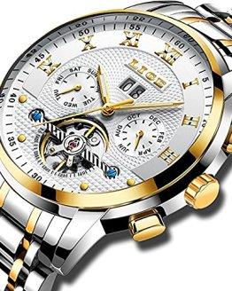 Watches Mens Full Steel Mechanical Wrist Watch Men